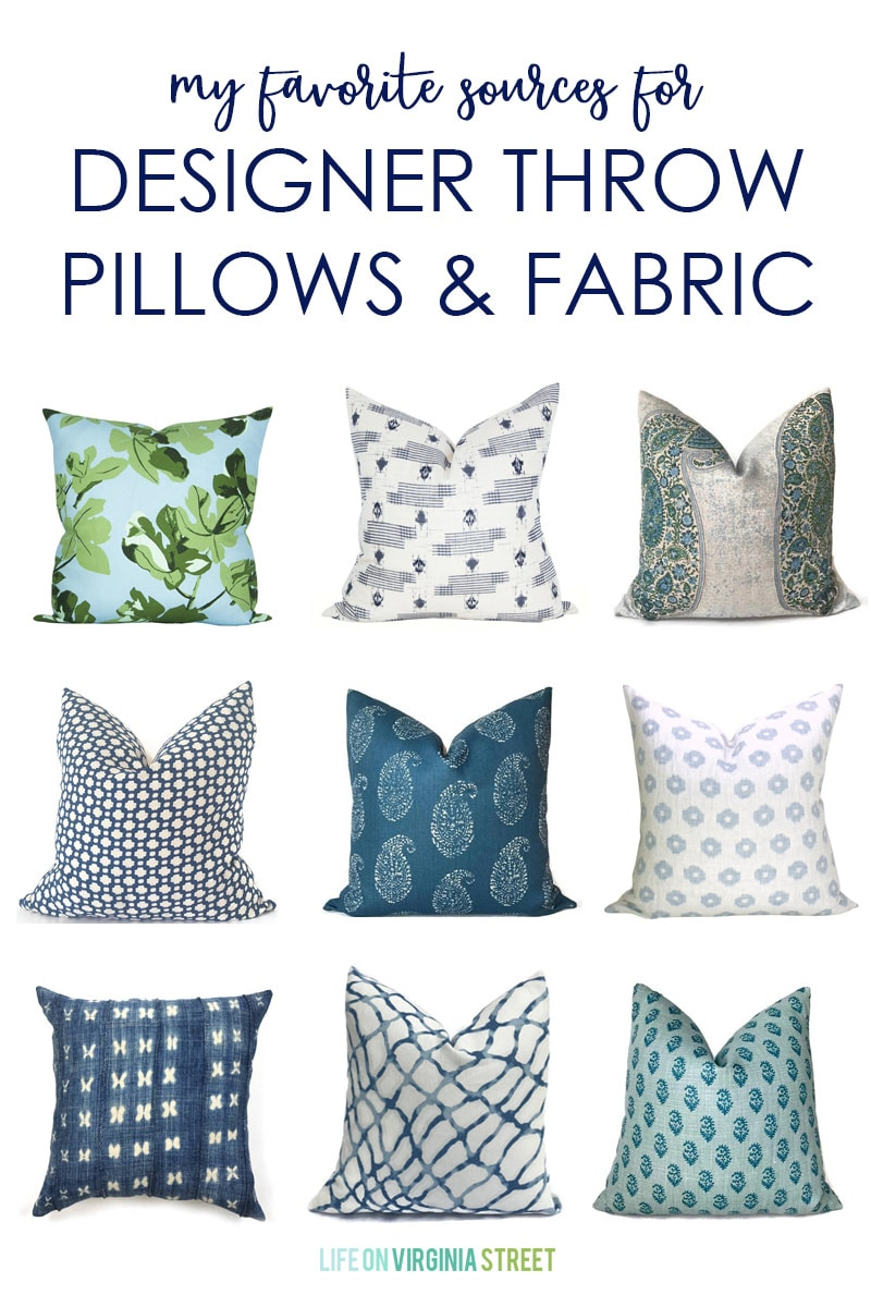 Best Fabric For Throw Pillow Covers Online