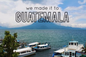 Traveling in Guatemala