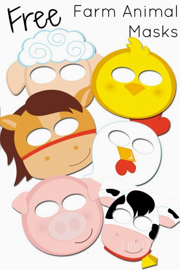 Free Printable Farm Animal Masks That Your Kids Will Love - Life Over Cs