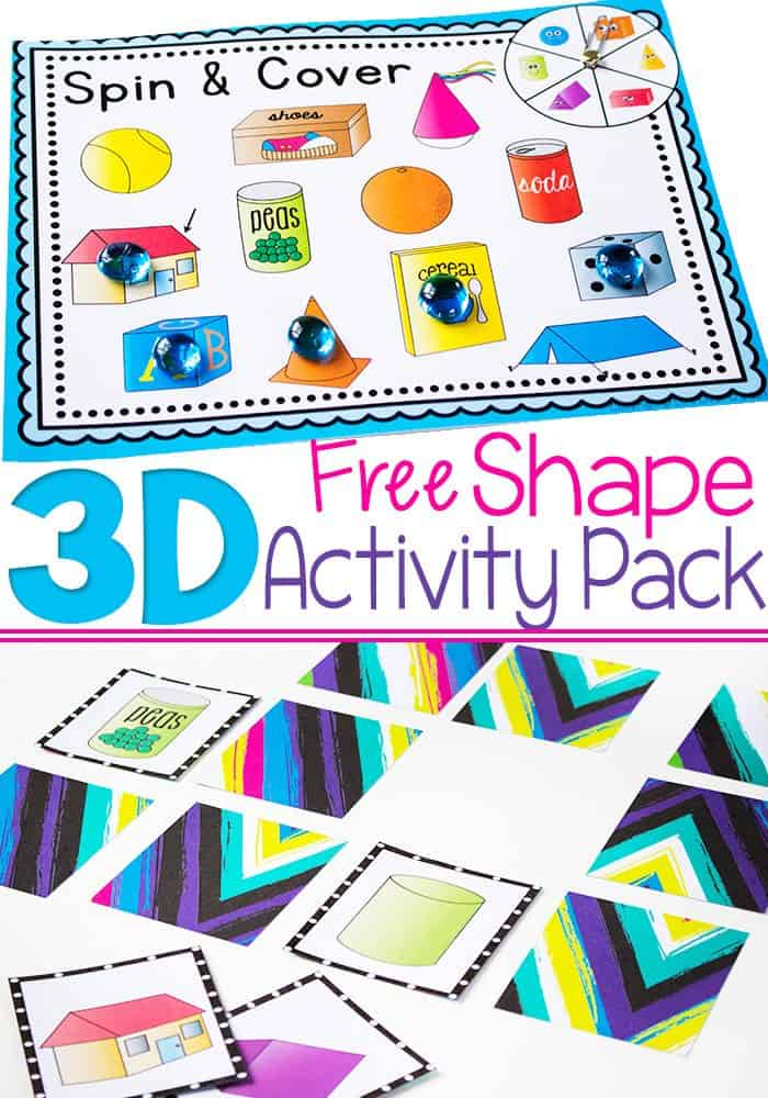 3D Shapes Free Printable Activities - Life Over Cs