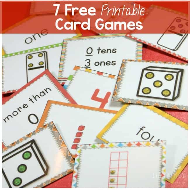 7 Free Card Games for Counting to Five and Much More!