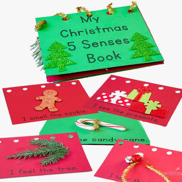 My Christmas Five Senses Book Free Printable - Life Over Cs