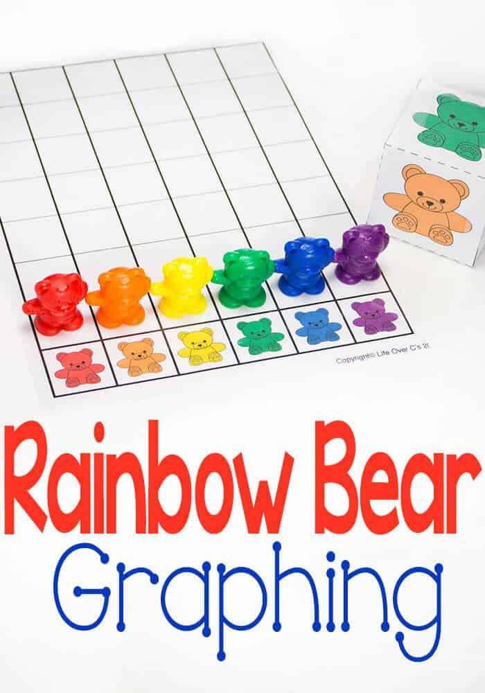 Rainbow Bear Graph for Colors Free Printable - Life Over Cs - free printable graph