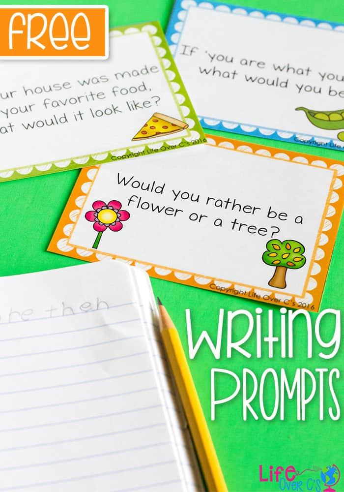 Fun Printable Writing Prompts for Kids - Life Over Cs