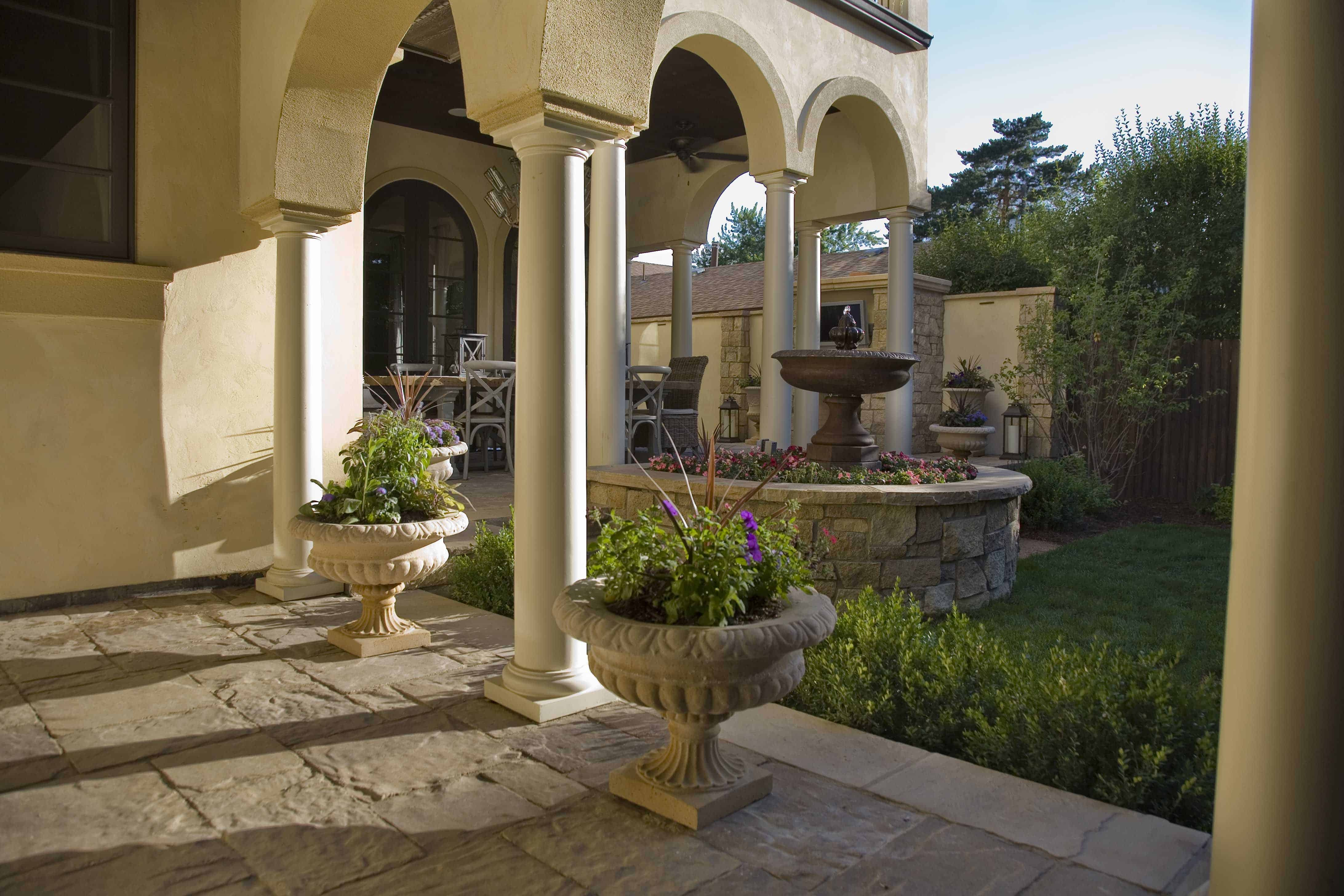 Tuscan themed pavers