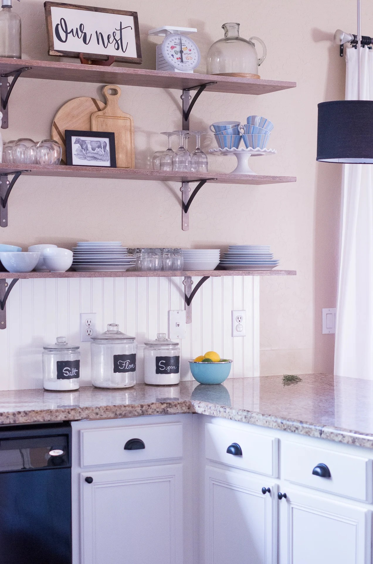 Kitchen Shelves Instead Of Cabinets 6 Creative Storage Solutions For A Kitchen With No Upper