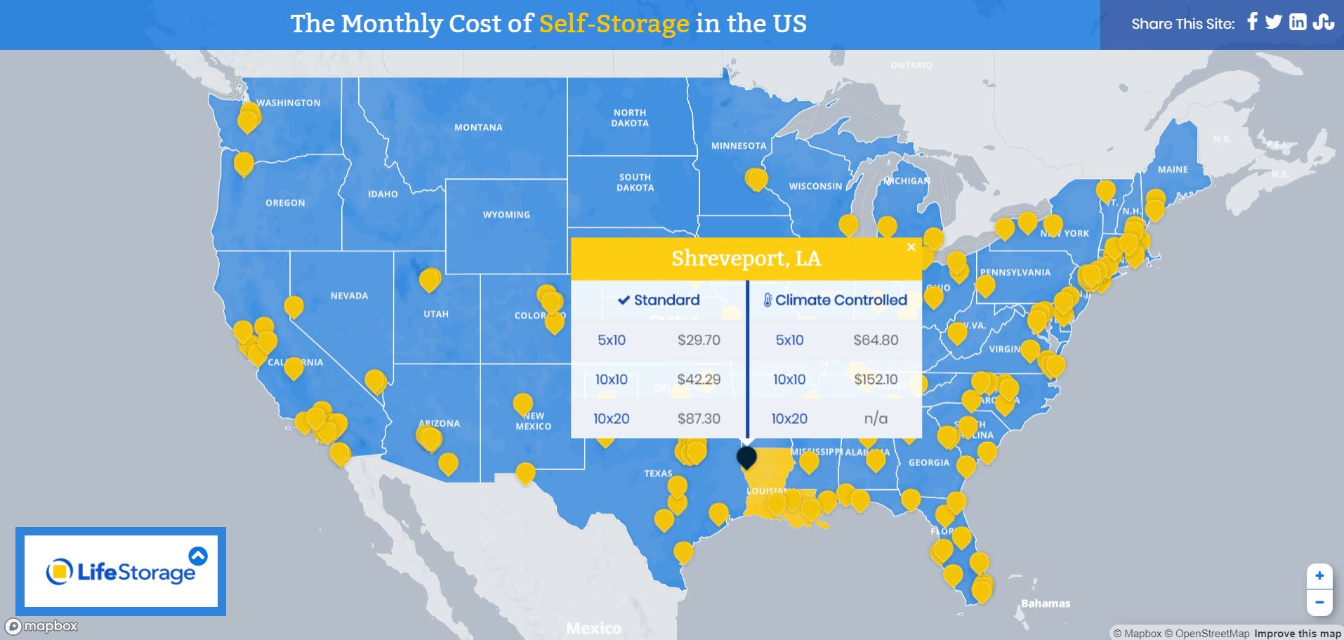 Storage Unit Cost How Much Does A Storage Unit Cost In 2018 Life Storage Blog