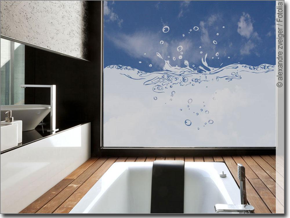Sichtschutz Splash Fensterfolie fürs Badezimmer - badezimmer fensterfolie