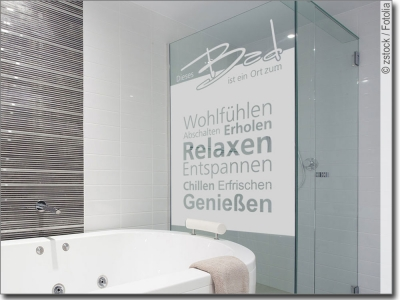 Maßgefertigte Fensterfolie für Badezimmer und Wellness - badezimmer fensterfolie