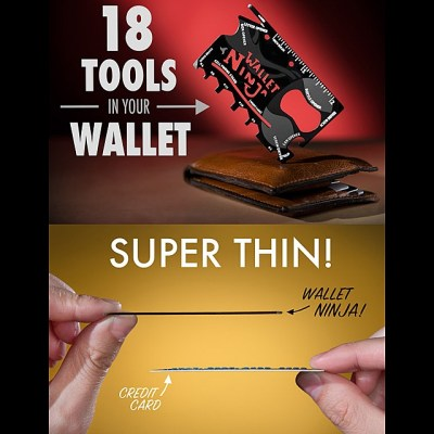 Wallet Ninja 18-in-1 Multi-Tool