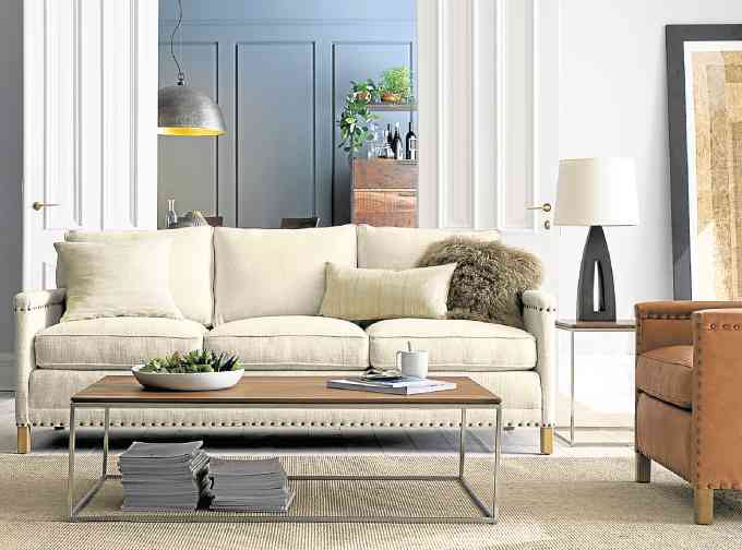 Crate \ Barrelu0027s take on open room living Inquirer lifestyle - crate and barrel living room