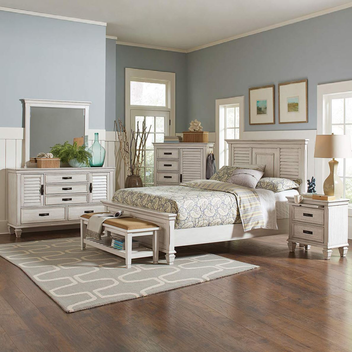 Nassau Antique White Bedroom Collection By Coaster Lifestle Furniture By Babette S Leesburg The Villages