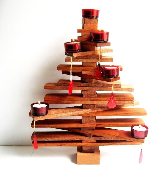 Idee albero di natale fai da te tra carta legno e - Decorazioni natalizie legno fai da te ...