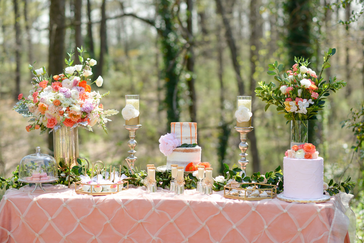Diy Backdrop Stand For Dessert Table Romantic Outdoor Wedding Dessert Table Inspiration South