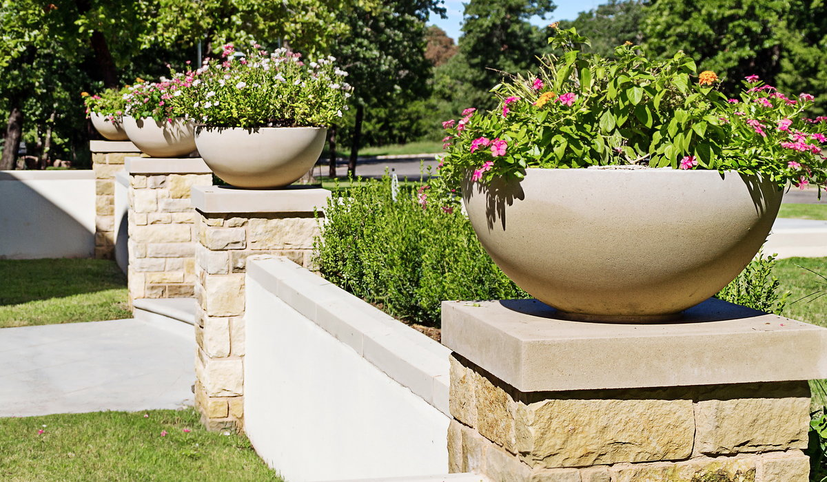 Simple Planters Even Simple Planters Become Elegant In Cast Stone Okc Lifestyle