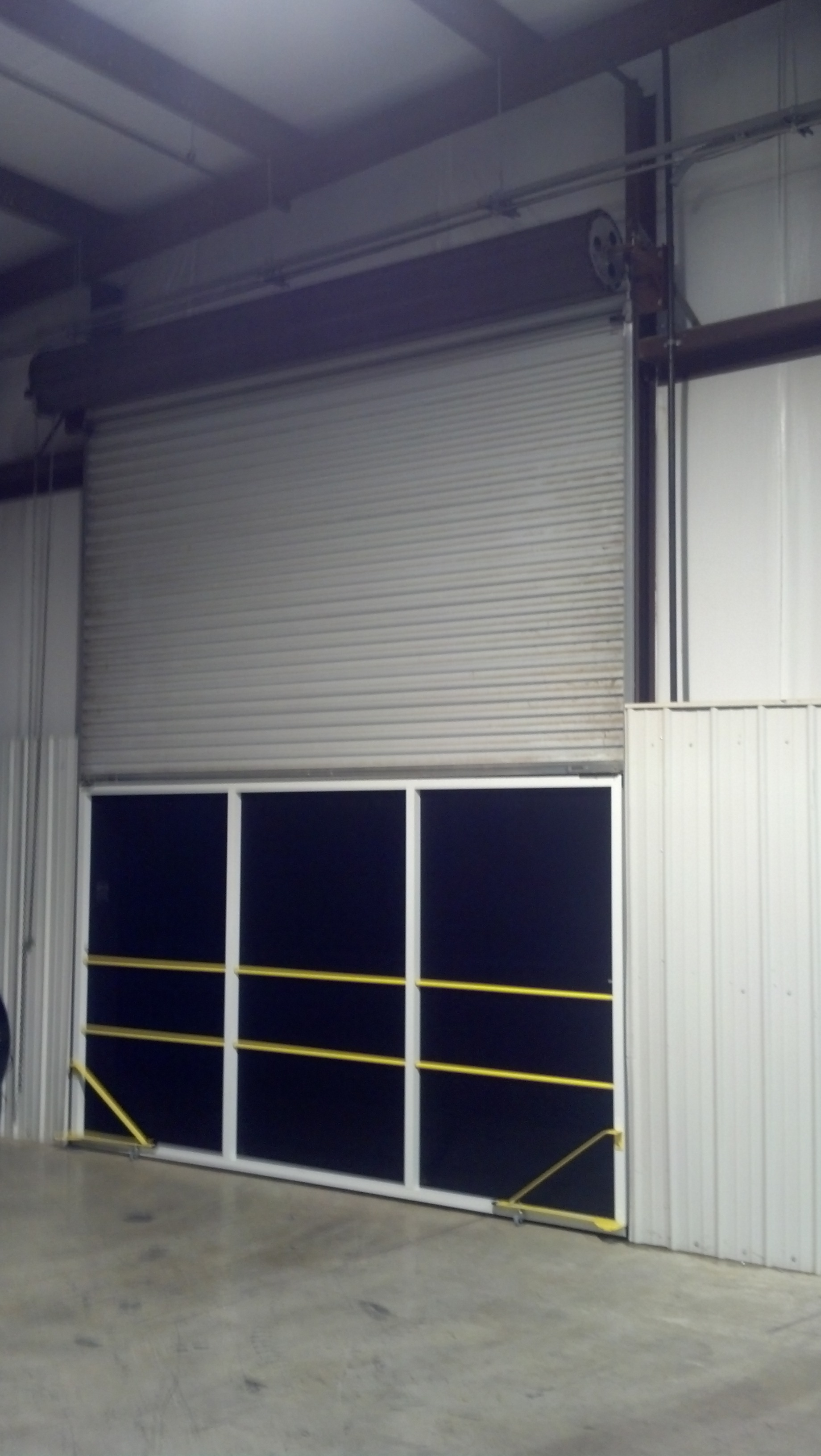 Garage Door Screen That Rolls Up Rollaround Screens For Rollup Warehouse Doors From Advanced