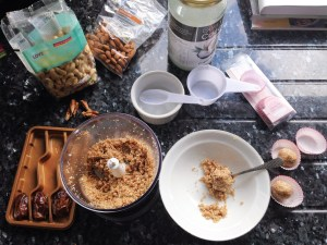 Image 1 Cashew & Almond Energy balls being made