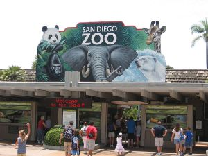 Picture shows the entrance at the San Diego Zoo