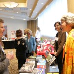 Book Publishing Boot Camp guests mingle with the exhibitors