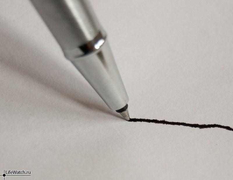 Скорость высыхания чернил в перьевой ручке