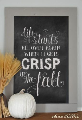 What To Put On Fireplace Mantel Autumn Chalkboards Collection - Life With Lorelai
