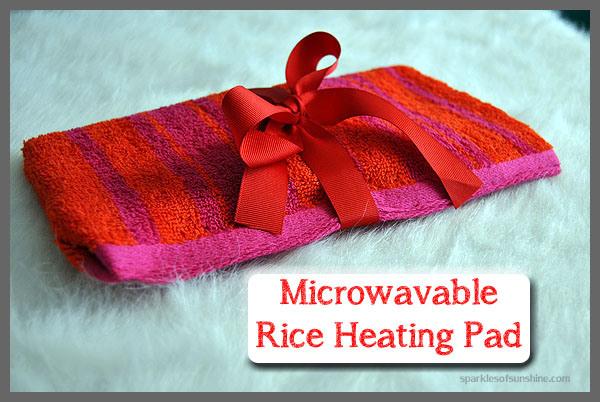 DIY Microwavable Rice Heating Pad | Sparkles of Sunshine