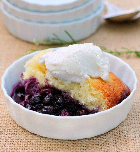 Lemon Blueberry Pudding Cake - HMLP 42