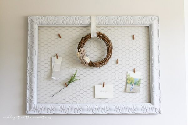 DIY Farmhouse Style Memo Board - Making it in the Mountains - HMLP 96 - Feature