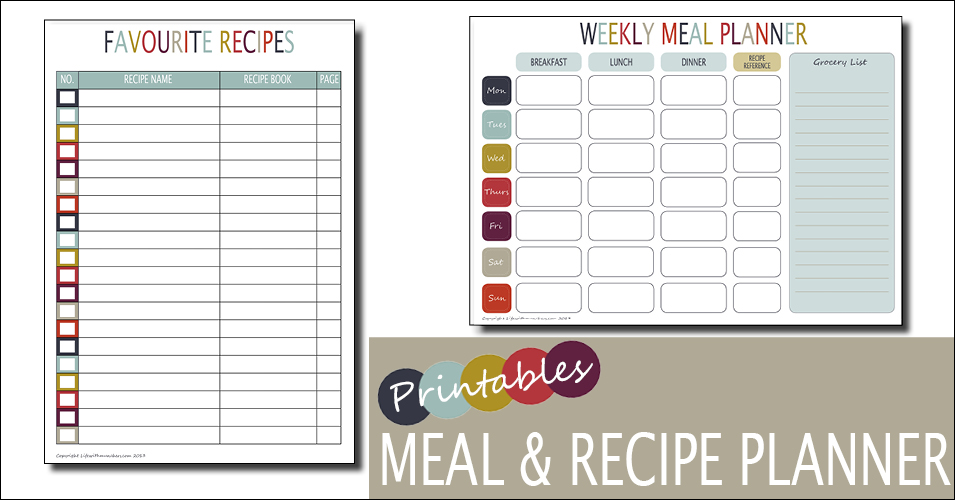 Weekly Meal Planner Template Free Printable - Family, Home - free menu planner template