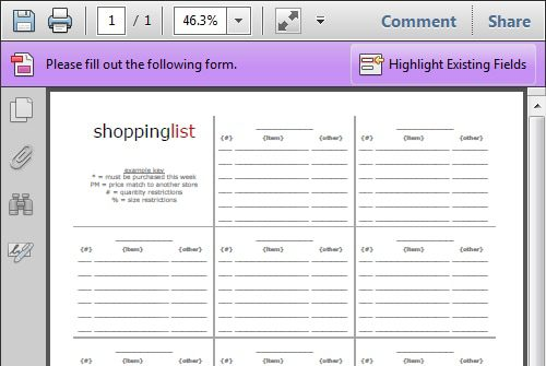 Organize Your Grocery List with These Free Printable Shopping Lists - shopping lists