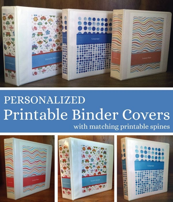 Free personalized printable binder covers Life Your Way