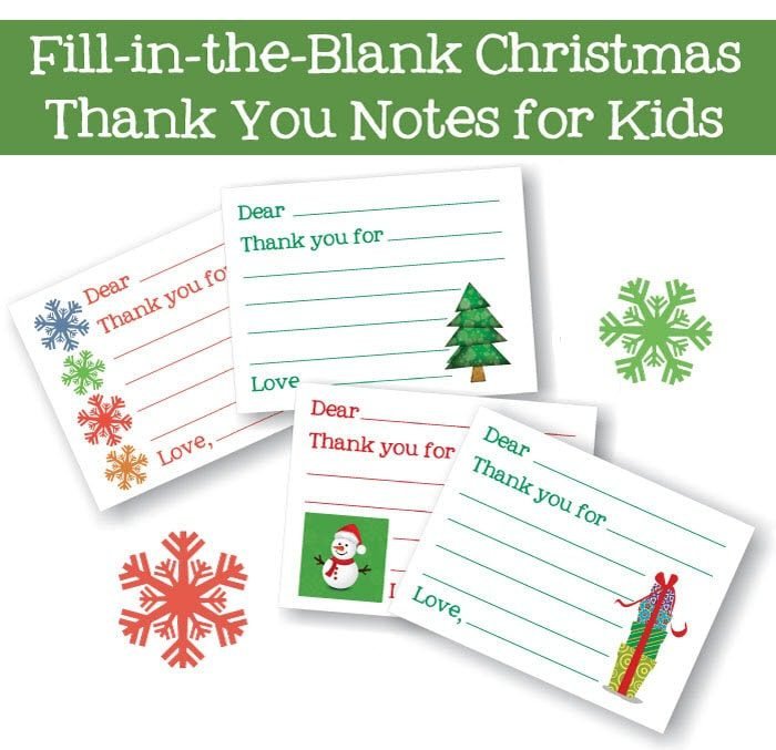 Fill-in-the-blank thank you cards {101 Days of Christmas} Life