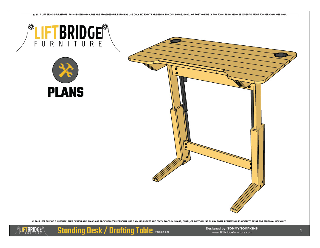 Drafting Table Design Lift Bridge Standing Desk Drafting Table Plans Lift