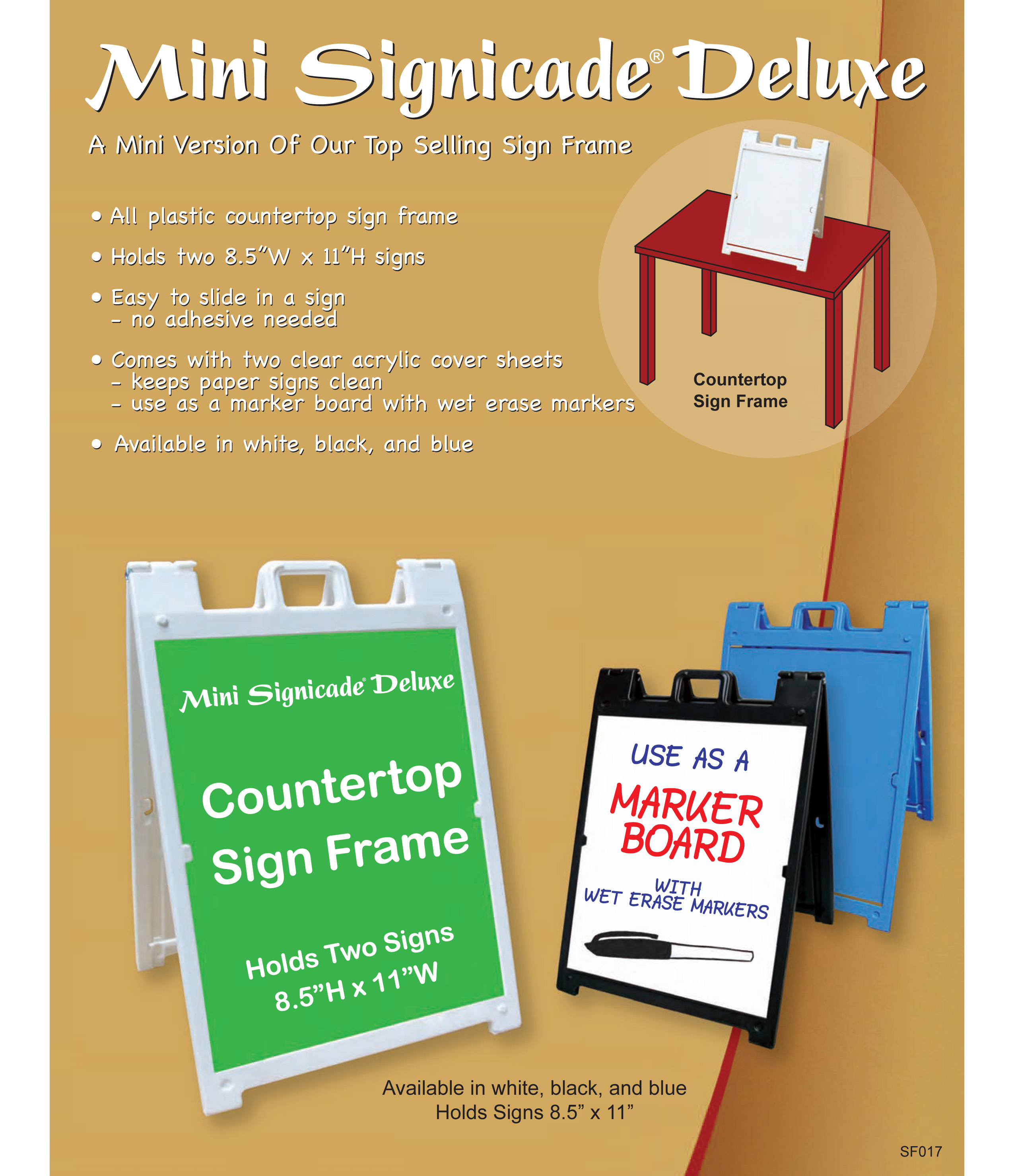 Countertop Signs Event And Tradeshow Items