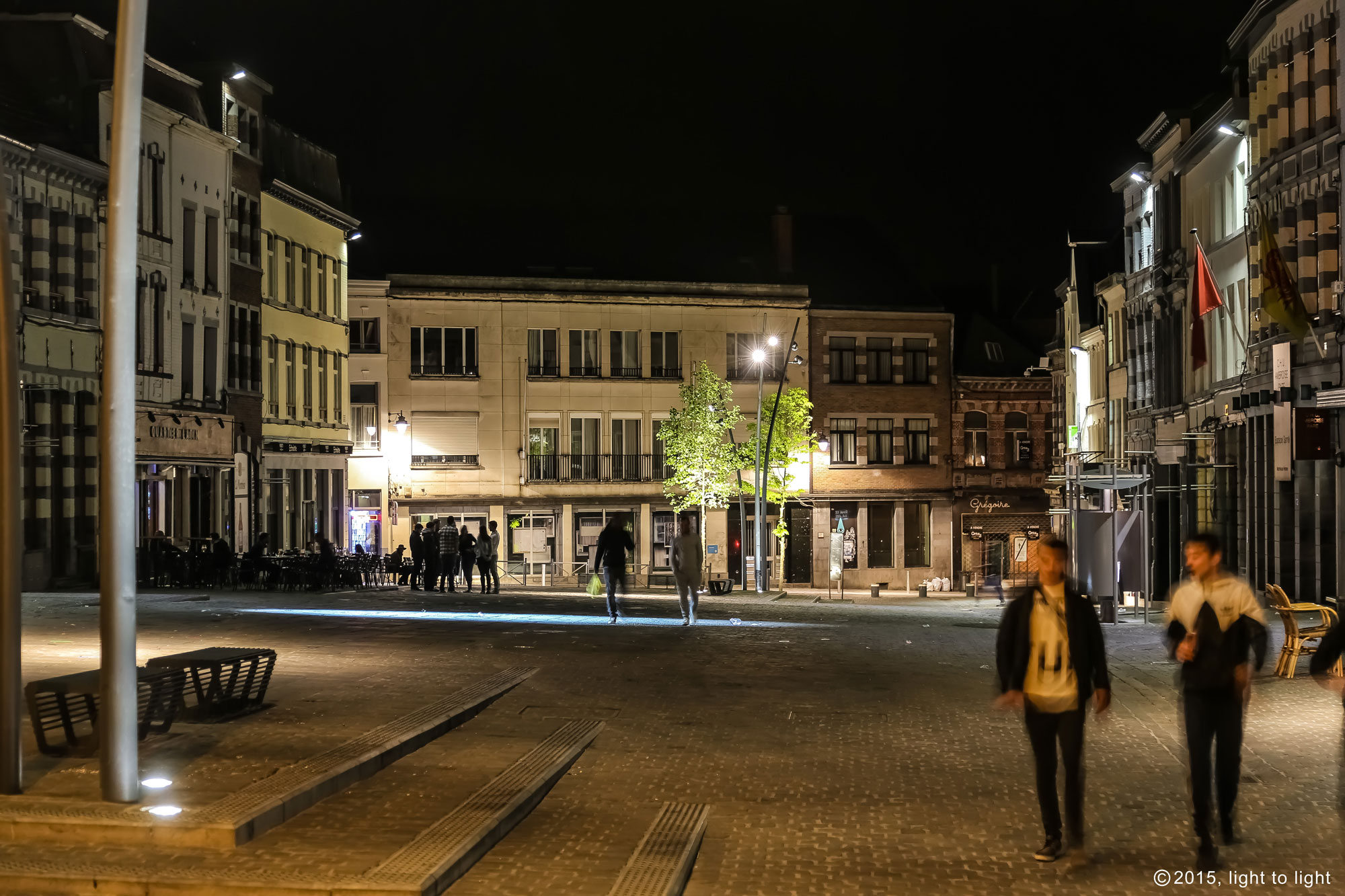 Huy Verlichting Place Du Marché Aux Herbes In Mons Light To Light