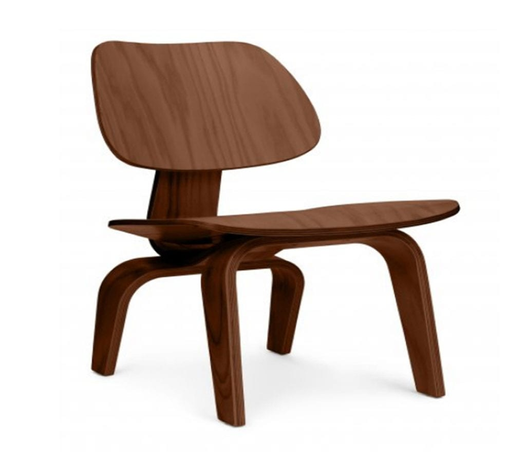 Eames Plywood Chair Walnut Veneer Charles And Ray Eames Style Lcw Chair