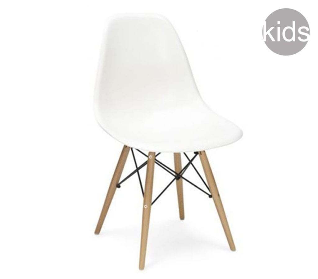 Dsw Eames Stuhl Childrens White Charles And Ray Eames Style Dsw Chair - Light & Glory