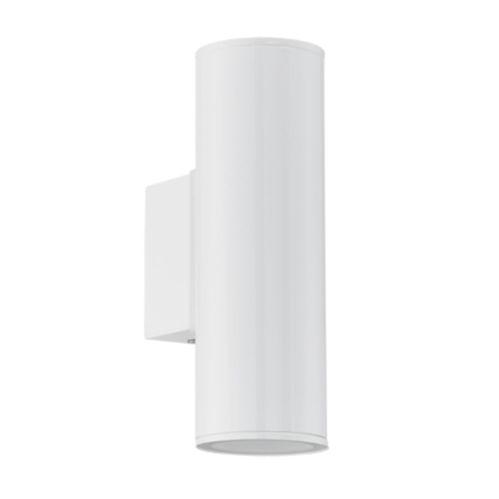Eglo Riga Led Outdoor Wall Light Eglo 94101 Riga Led Gloss White Led Up Down Wall Light