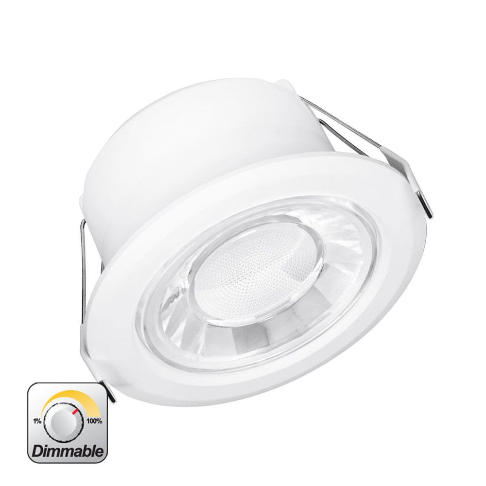 Dimmbare Led Spots Enlite Spryte 10w Fixed Integrated Led Downlight Cool White