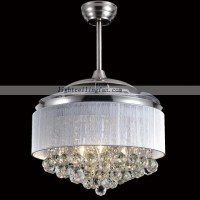 Led Acrylic Blades crystal Invisible Ceiling Fan Light ...