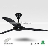 56 Inches black ceiling fan contemporary ceiling fans ...