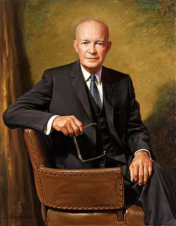 Dwight D. Eisenhower, official portrait as Pre...