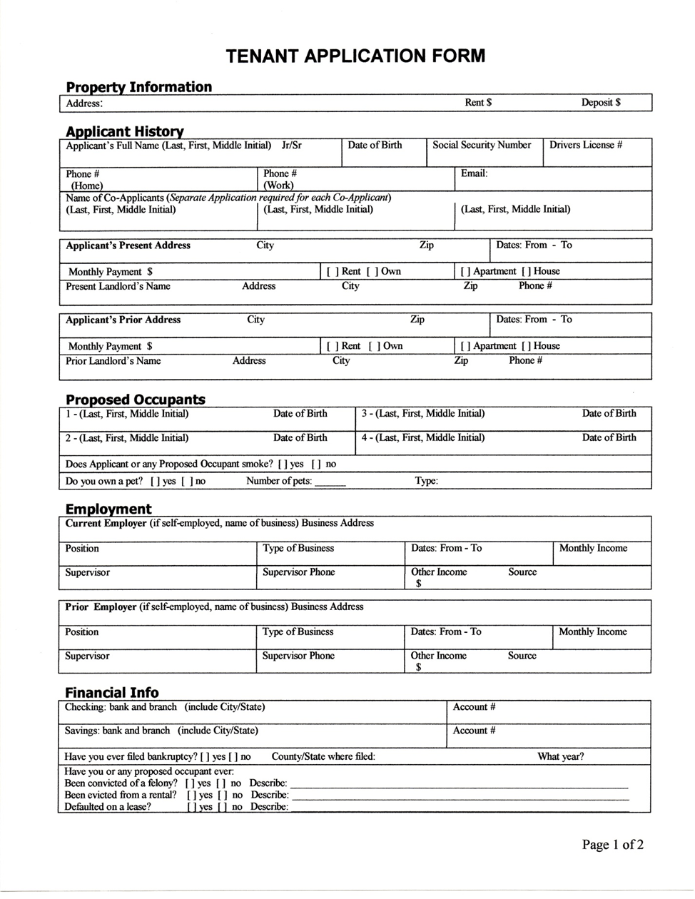 Credit Application Form Download Free Documents For Pdf Application Form Rental Application Form For Tenants