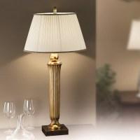 Orion Nechnitz Antique Gold Table Lamp - Lighting Deluxe