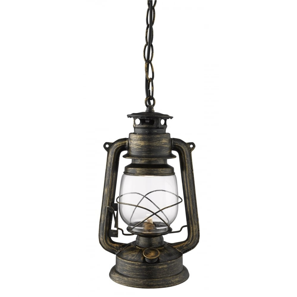 Glass Lamp Ceiling Hurricane Ceiling Ceiling Pendant Miners Lantern Black And Gold With Clear Glass