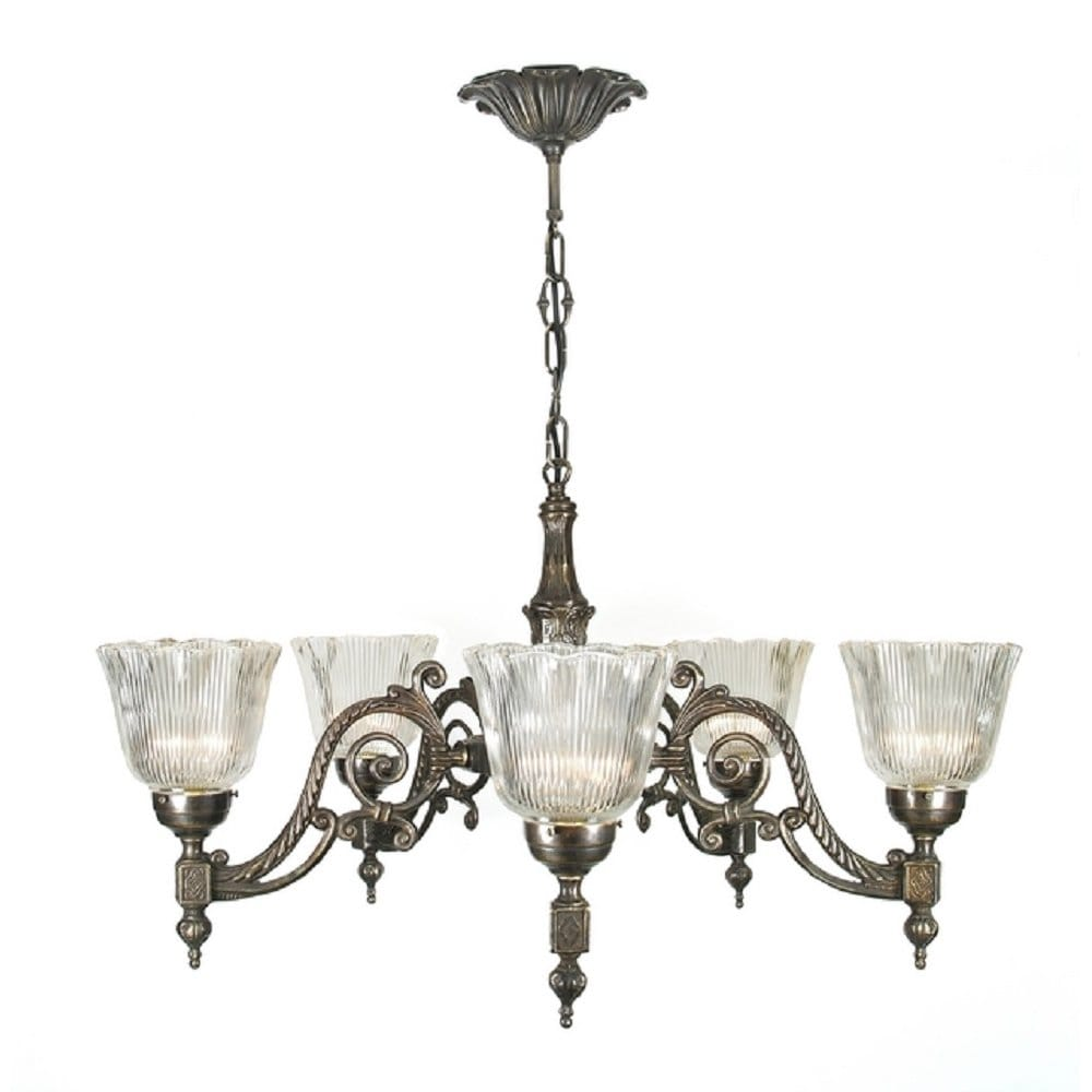 Chandelier Lamp Uk Victorian Or Edwardian Aged Brass Chandelier With