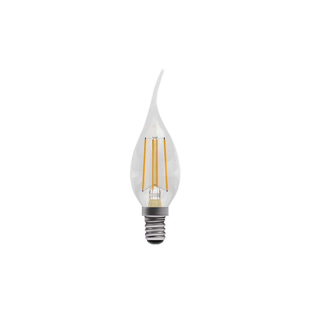 E14 Led Led Clear Filament Bent Tip Candle Bulb Ses E14 Dimmable