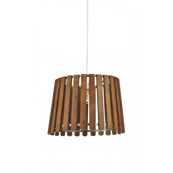 Ex Display Kitchen Islands Wooden Slat Non Electric Ceiling Pendant - Suitable For