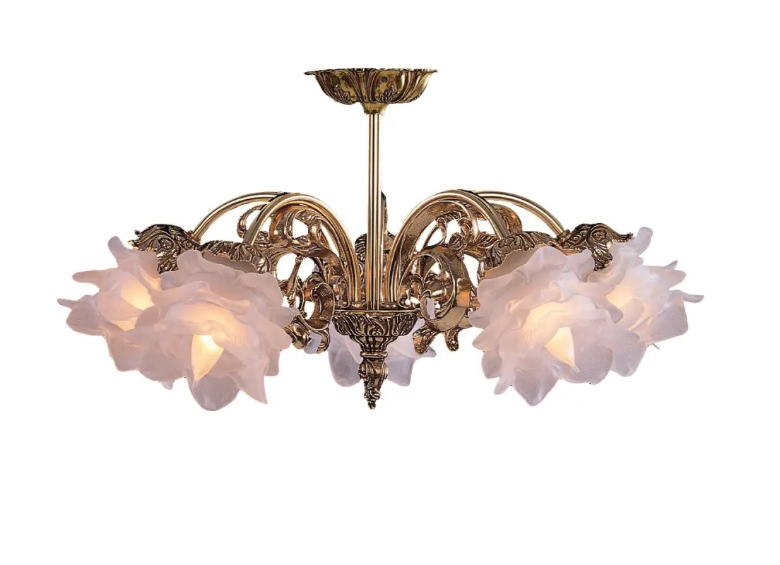 Tulip Ceiling Fan Crystorama Lighting Group 465 Ob Sf L Olde Brass 5 Light