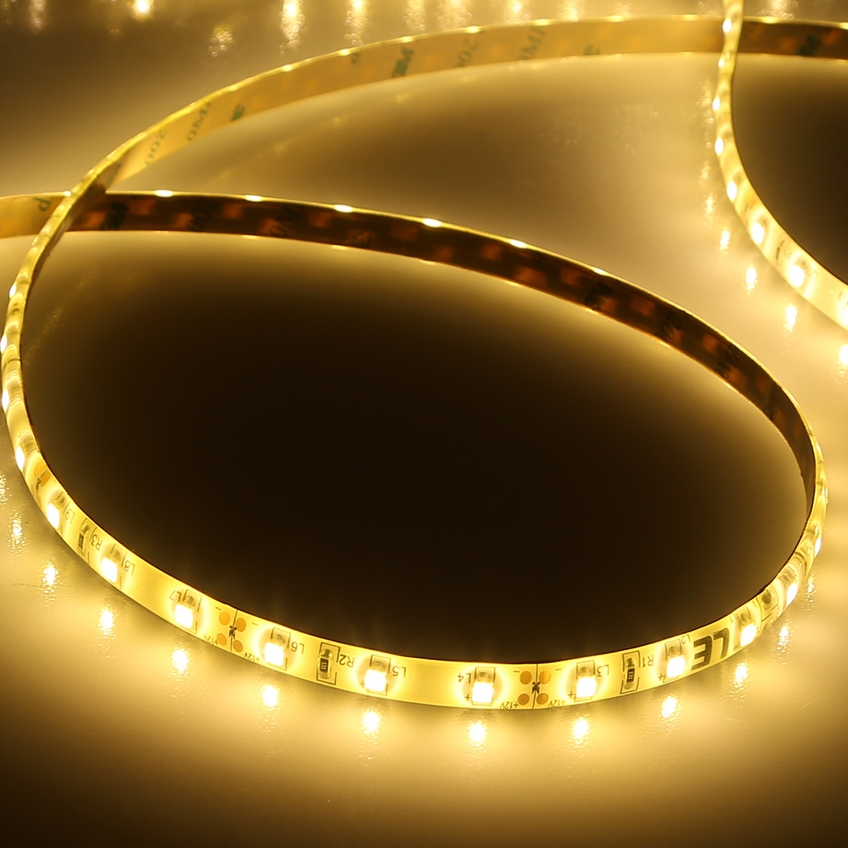 Lighting Ever Top Quality Led Fixtures 12v Led Strip Lights Waterproof Warm White 2835 Smd Le